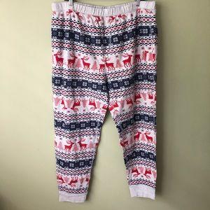 Gap Men's Reindeer Print Thermal Pajama Pants XXL